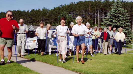 elderly excercise walking