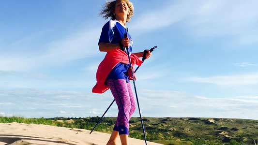 Best Nordic walking poles for fitness walking, hiking, trekking, physical therapy, balance and stability